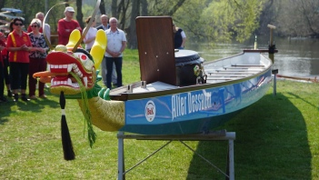 """Das Boot wurde auf den Namen """"Alter Dessauer"""" getauft."""